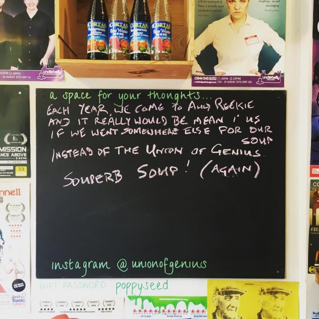 Souperb soup! Thanks for the lovely message unionofgenius youneedsoup
