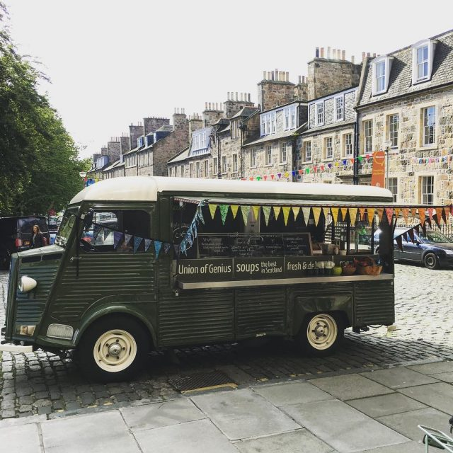 Our lovely soup van Dumbo is on George Square ashellip