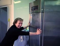 Elaine moving fridge