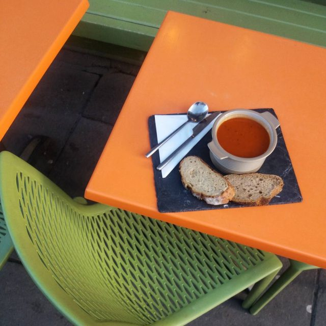 Its 5C and sunny al fresco soup? UNIONOFGENIUS