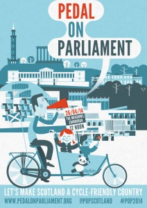 Pedal on Parliament 2014 poster