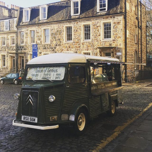 Our trusty soup van Dumbo is back on George Squarehellip