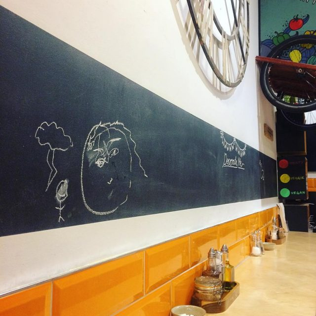 Let the artwork commence chalkboard artists rawtalent edinburgh soup glutenfreehellip